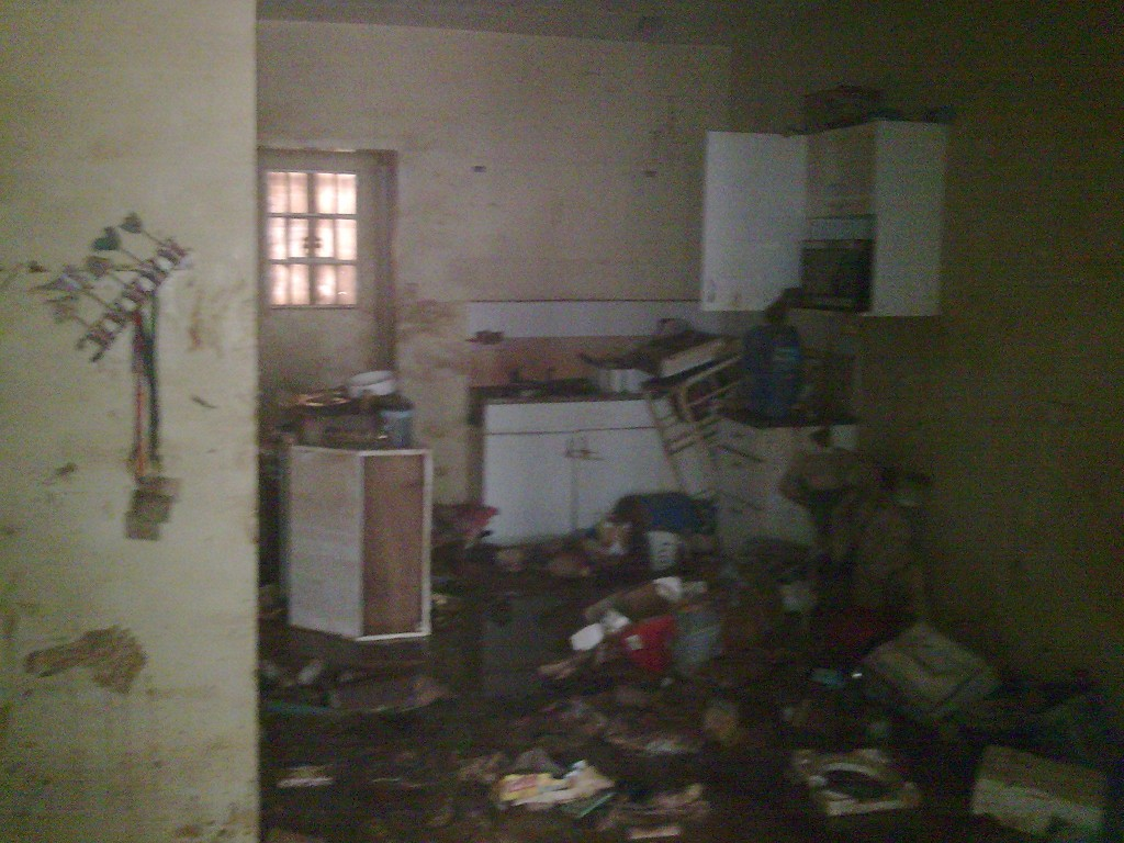 Our kitchen or what's left of it