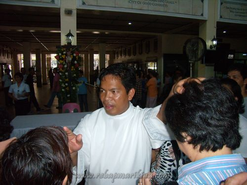 Father Suarez during the healing mass