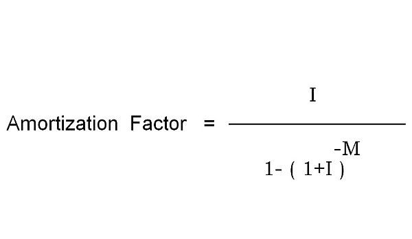How to calculate for the amortization factor