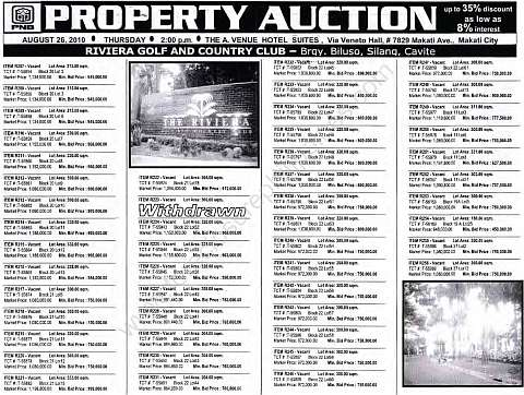 PNB-foreclosed properties RIVIERA-GOLF-AND-COUNTRY-CLUB-AUGUST-26-2010-AUCTION