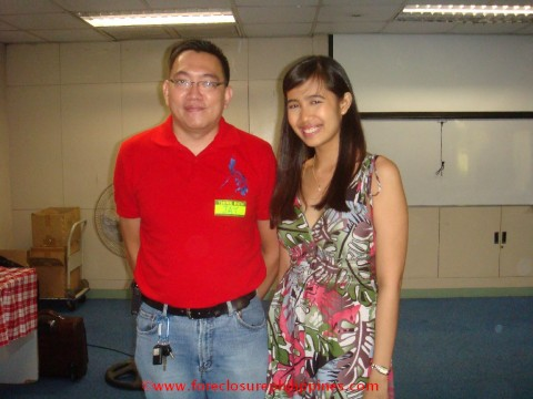 Jay Castillo and Eden April Alemania at the TRP Seminar last February 27 2010