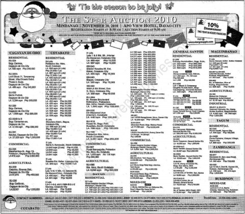 Star Group of Companies property listings for auction on November 20, 2010