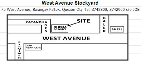 bpi-repossessed-cars-west-avenue-stock-yard-vicinity-map