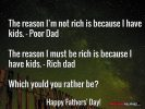 The Reason I Must Be Rich Is Because I Have Kids – A Father's Day Reflection