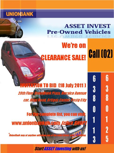 UnionBank Repossessed Cars On Clearance Sale