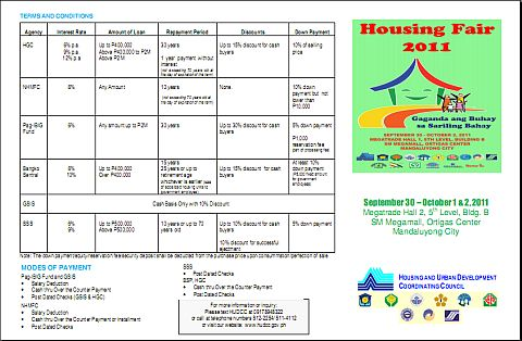 Housing Fair 2011 Fact Sheet