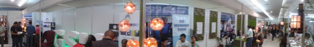 Housing Fair 2011 SSS Booth (The GSIS Family Bank booth is on the left)