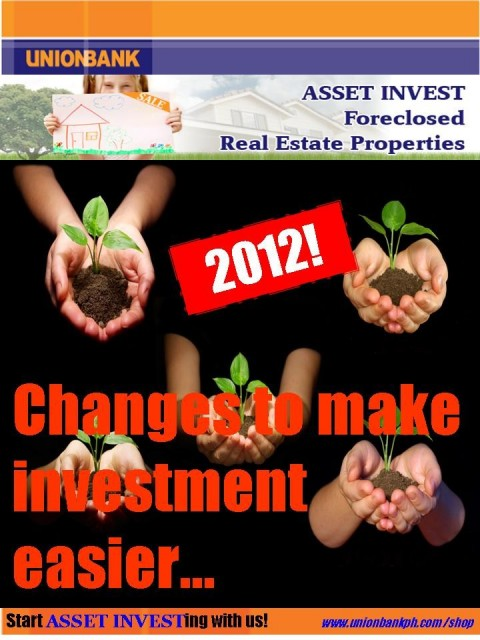 """Unionbank's """"Changes"""" that can help real estate investors in 2012 teaser"""