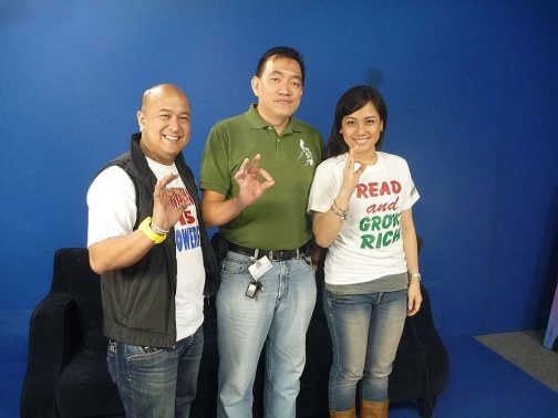 That's me with John Calub and Cheska San Diego of Success TV