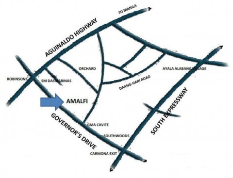Amalfi Dasmarinas Cavite - vicinity map