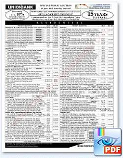 187th UnionBank foreclosed properties auction on June 23, 2012