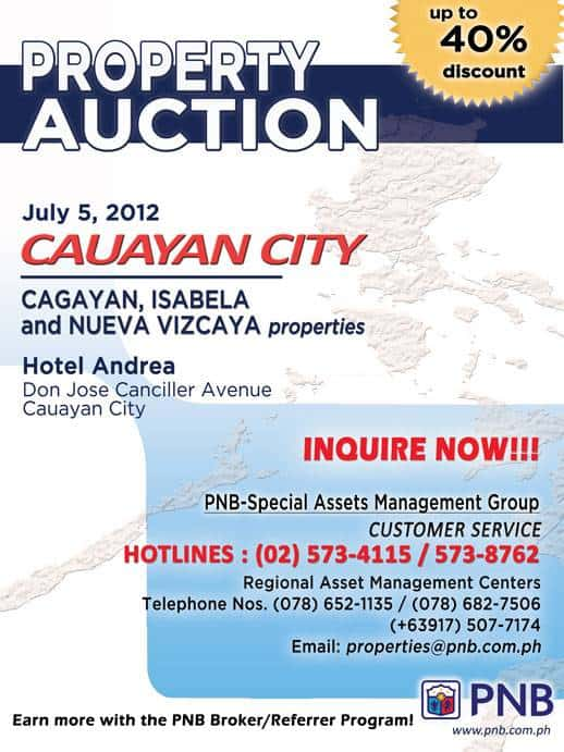 PNB Foreclosed properties auction in Cauayan City - July 5, 2012