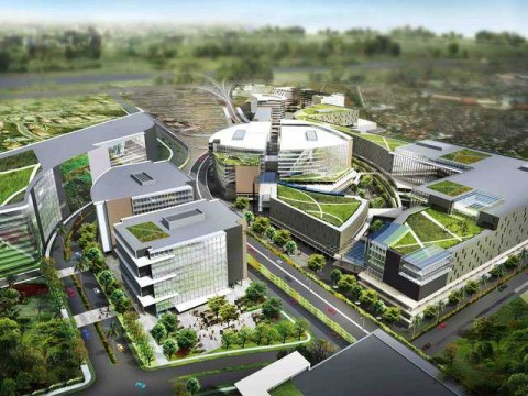 Artist'a sketch of Ayala Land's FTI property development plans. Graphics sourced from Ayala Land as posted in rappler.com