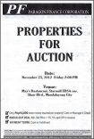 Paragon Finance Corporation properties for auction on November 23, 2012 (with knock-out option)