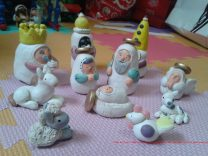 cute belen with three kings