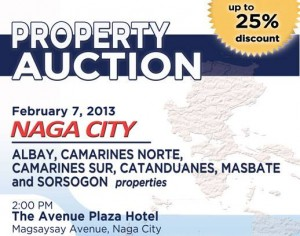 NAGA PNB FORECLOSED PROPERTIES AUCTION FEBRUARY 7 2013 banner