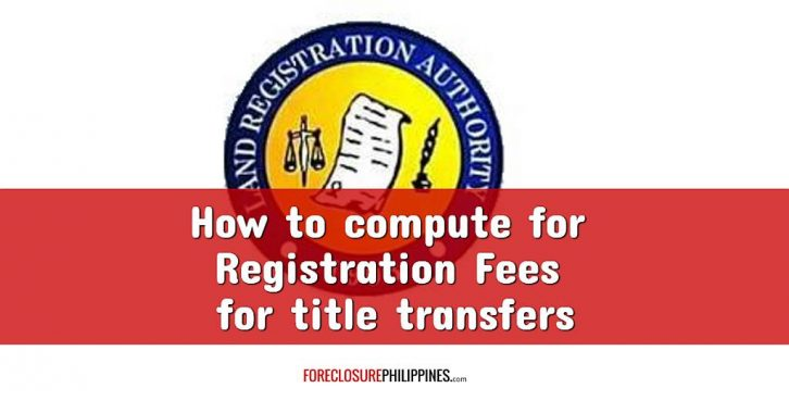 how to compute for registration fees (registry of deeds