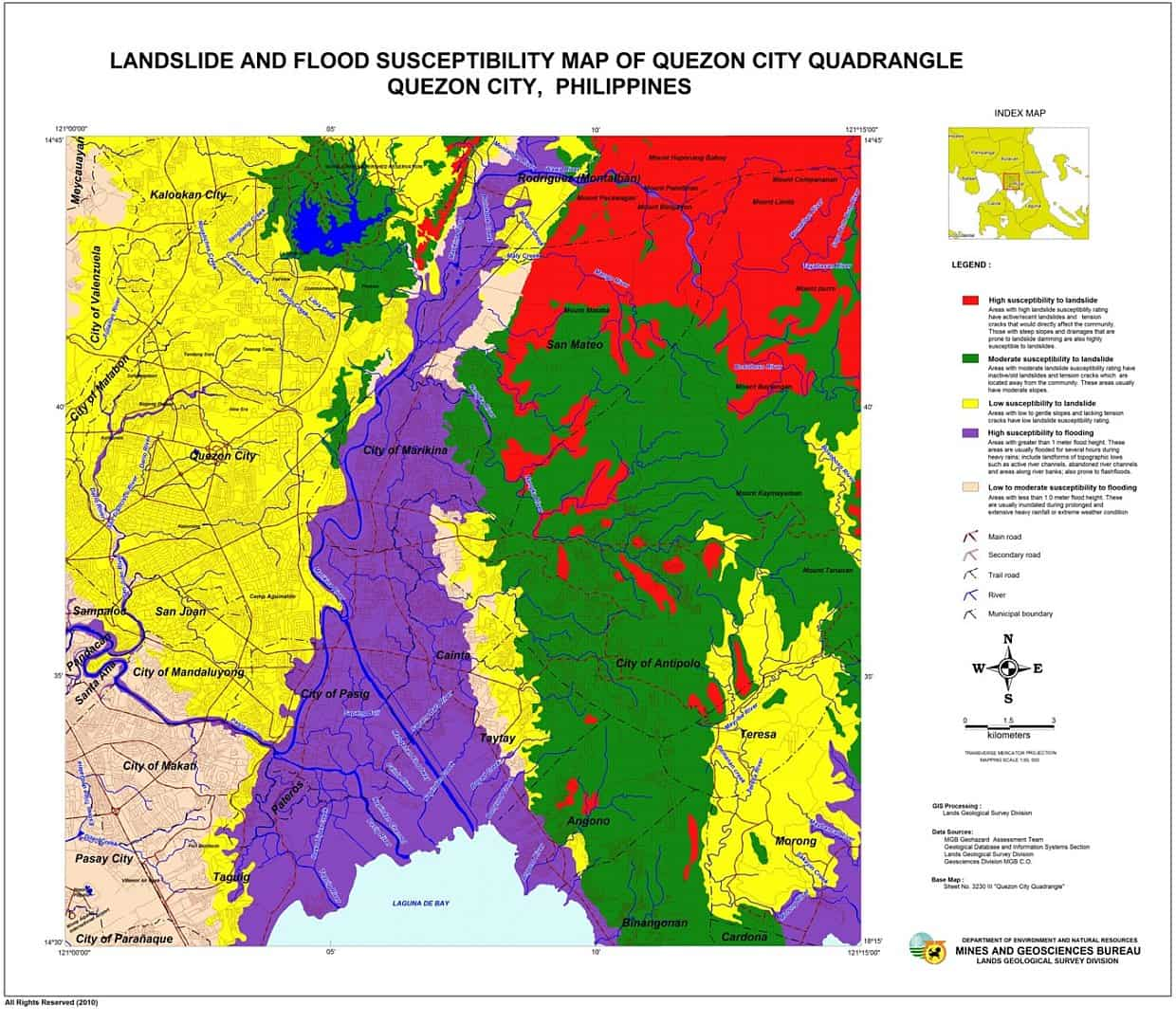 Philippines Flood Map Flood Susceptibility Map