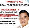 Muntinlupa Gives Real Estate Tax Relief Thru Amnesty For Real Property Owners Until December 31, 2013