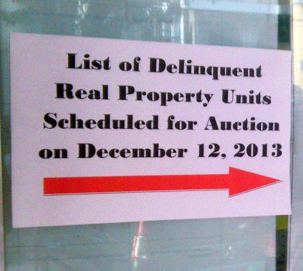 No Real Estate Tax Relief For Quezon City – Public Auction Slated On December 12, 2013