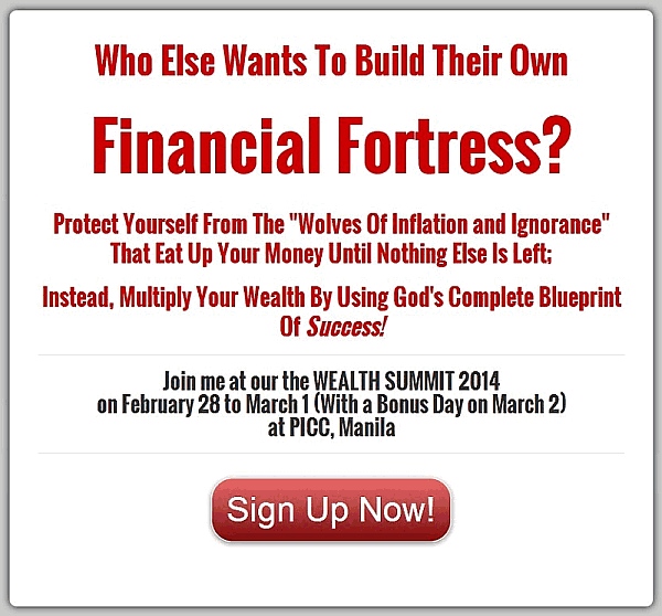 Join Me At The Wealth Summit 2014 On February 28 – March 2 (Plus How To Get 10% Discount)