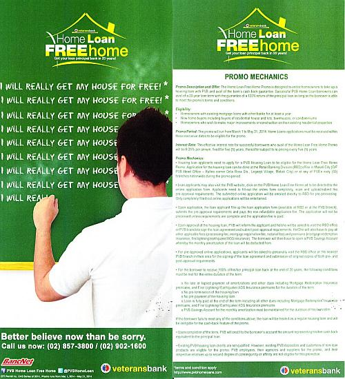 philippine-veterans-bank-home-loan-flyer