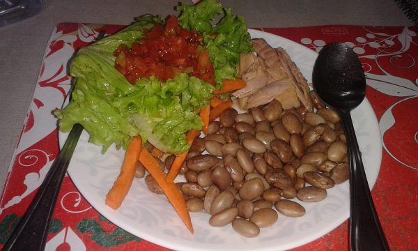 typical-lunch-dinner-low-salt-tuna-pinto-beans-fresh-salad-homemade-salsa