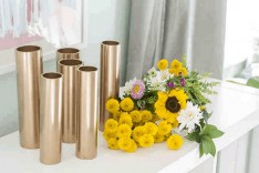 Home Staging Tip: Turn PVC pipes into flower vases