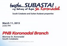 Public Bidding of PNB Foreclosed Properties in South Cotabato and Sultan Kudarat slated on March 11, 2015