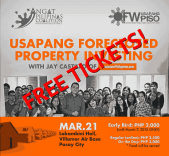 Giveaway: Free Ticket For The Usapang Foreclosed Property Investing Seminar (Deadline: March 16, 2015)