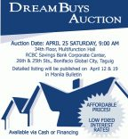 RCBC Savings Bank Foreclosed Properties Dream Buys Auction Slated on April 25, 2015