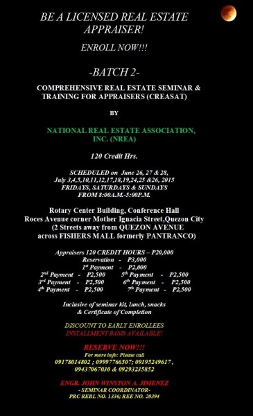 NREA Real Estate Appraiser Review 2015