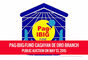 Pag-IBIG Foreclosed Properties Auction in Cagayan De Oro City Slated on May 13, 2015