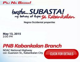 Public Bidding of PNB Foreclosed Properties In Negros Occidental Slated On May 13, 2015