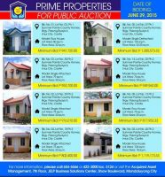 Public Auction of Pag-IBIG Foreclosed Properties in Bulacan and Cavite slated on June 29, 2015