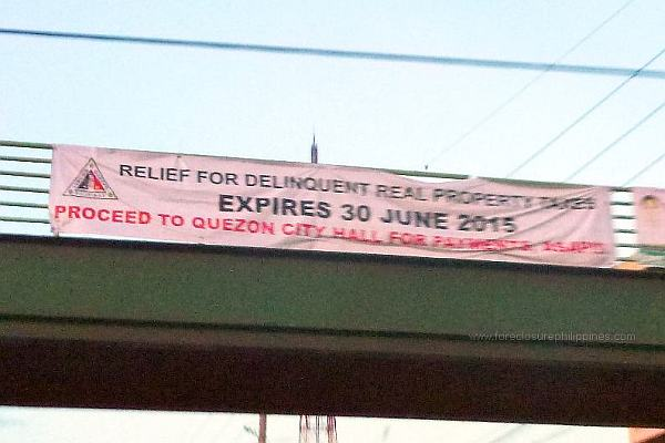 Quezon City Tax Relief For Delinquent Real Properties Ends On June 30, 2015