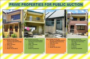 4 Public Biddings for PDIC and Pag-IBIG Foreclosed Properties Slated on June 30, 2015