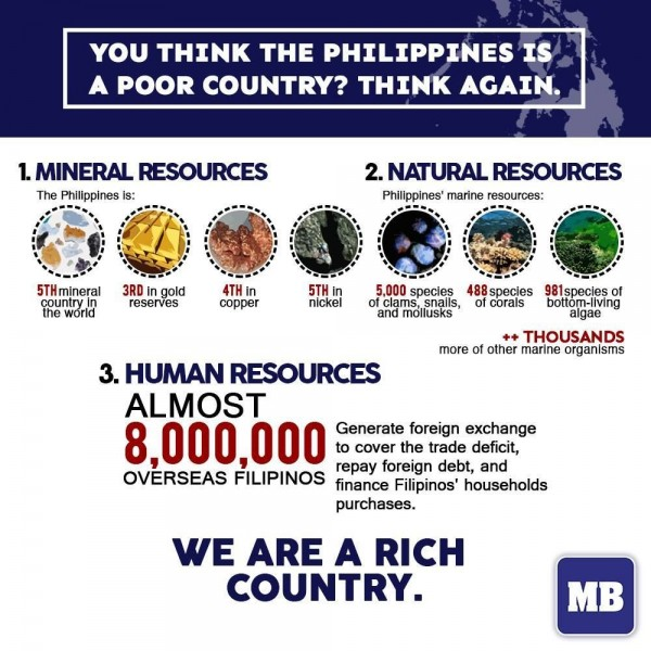 The Philippines is a rich country - MB