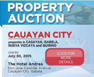 PNB Foreclosed Properties Auction In Cauayan City, Isabela Slated On July 30, 2015