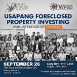 "Join us for the last ""face-to-face"" Usapang Foreclosed Property Investing"" Seminar (Batch 3) On September 26, 2015"