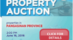 Public Auction Of PNB Foreclosed Properties In Pangasinan Slated On June 16, 2016