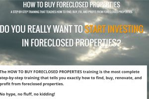 """FAQ's for the """"How to buy foreclosed properties"""" training"""