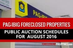 Final Update: 2,271 Pag-IBIG foreclosed properties for public auction this August 2016