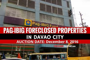 43 Pag-IBIG Foreclosed Properties in Davao scheduled for public auction on December 8, 2016