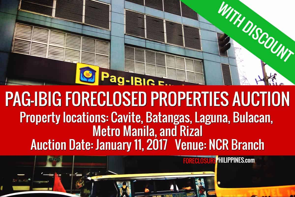 458 pag-ibig foreclosed properties slated for public auction on