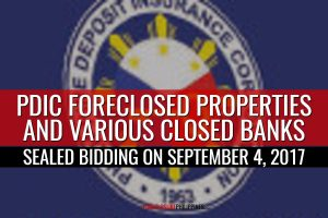 More than 200 PDIC foreclosed properties included in another auction slated on September 4, 2017