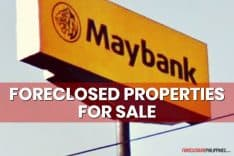280 Philmay and Maybank Foreclosed Properties included in latest nationwide list