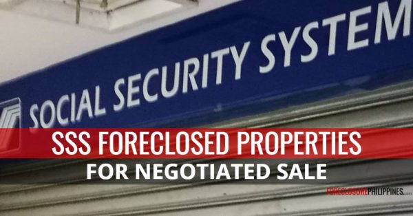SSS foreclosed properties for sale October 2017