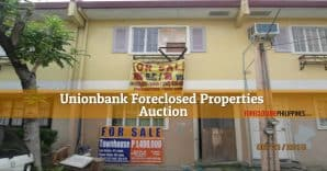 125 Unionbank Foreclosed Properties included in June 23, 2018 Auction For Luzon/Metro Manila