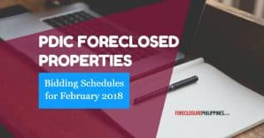 3 Public Biddings For PDIC Foreclosed Properties Slated On February 2018